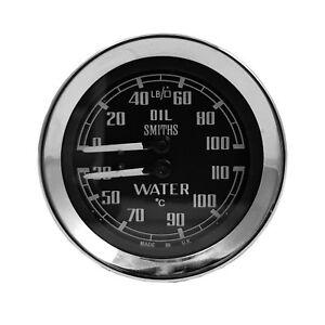 Genuine Smiths Oil & Water Duel Gauge For Sprite & Midget MGC MGB 67-69 BHA4764