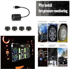 Tire Pressure Temperature Monitoring System Alarm TPMS w/USB for Android Car DVD