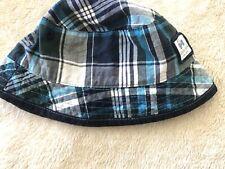 Baby Boy Little RJR John Rocha sun summer hat 0-6 months green checkered cap