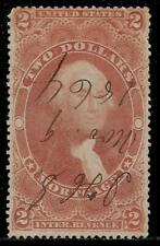 USA  1864 About 156 Years Old 2 Dollars Revenue Stamp - President Washington