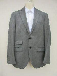 Hackett - Mens Mid Grey Wool / Cashmere Blend Smart Jacket - size 40R