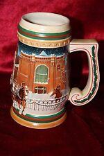 Budweiser Holiday Beer Stein 1997 Holiday Ceramarte Tankard