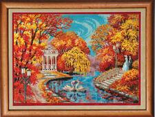 "Bead Embroidery kit GOLDEN HANDS P-011 - ""Autumn blues"""