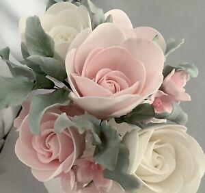 Pink/white Rose Spray Cake Decoration Wedding/Celebration Cake Topper