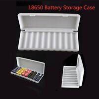 18650 Battery Storage Organizer Box Holder White Case for 10 x 18650 Batteries