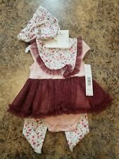 Nicole Miller 4 Piece Set 3/6 Months Little Girls