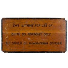 WWII 614th Bomb Squadron Latrine Sign