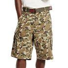 Levi's Snap Cargo Shorts Desert Camo New Tags Size 38 Desert Tan Levi Belt New