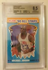 1990 Fleer Sticker BGS 8.5 MICHAEL JORDAN