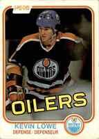 1981-82 O-Pee-Chee Kevin Lowe Rookie #117