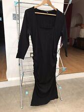 Isabella Oliver black bodycon sheath maternity dress size 4 (UK 14)