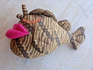stuffed batik fabric fish with big lips, Indonesia