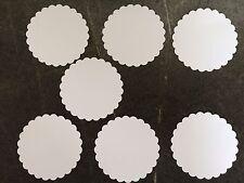 7 gewellte Kreise 7,5cm Weiß Stanzteile/Streuteile/Dekoteile