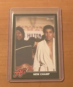 2021 TOPPS MUHAMMAD ALI #70 NEW CHAMP - NUMBERED 54/56 BLACK PARALLEL