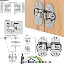 Hafele 180° Concealed Mortice Hinge For Folding Doors, Nickel Plated, Screw Fix