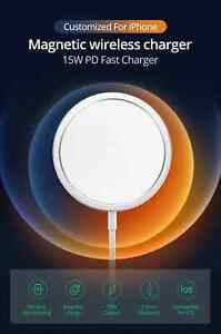 15W Qi Magnetic Wireless Charger For iPhone 12 Pro Max 11 Xs X PD Fast Charging