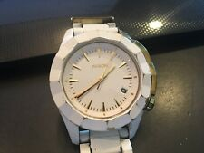 NIXON Monarch All White & Gold-Tone  Women's Watch