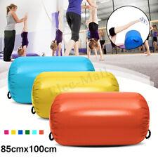 100x85Cm Orange Inflatable Pvc Gymnastics Home Gym Air Mat Barrel Track
