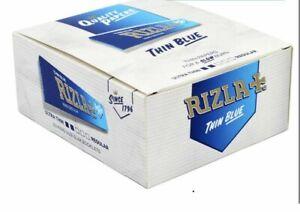 Rizla Blue Slim King Size Rolling Cigarette Paper Full Box Of 50 Booklets