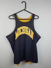Vintage Mens Reversible USA brillante audaz Deportes Atléticos Baloncesto Camiseta Top en muy buen estado M