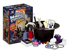 MEGA MAGIC BOX KIDS 150 TRICKS MAGICIAN HAT RABBIT PERFORM TOY SET WAND NEW GIFT