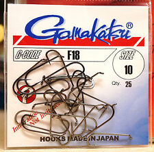 GAMAKATSU F18 black nickel 25 Haken Gr.#10 Streamer & Salzwasser F18