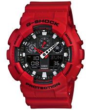 NEW  Casio-G-Shock-Men's GA100B-4A-X-Large-Series Analog Digital-Red Watch