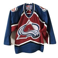 Vintage Colorado Avalanche Starter NHL Hockey Jersey Small Youth Women Roy Sakic