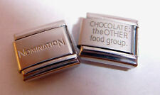 CHOCOLATE THE OTHER FOOD GROUP 9mm Italian Charm + 1x Nomination Classic Link