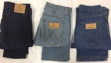 MENS CUT LABEL ICONIC WRANGLER JEANS ADDED STRETCH LIGHTWEIGHT REG FIT ZIP FLY