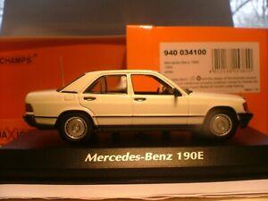 EXTREMELY RARE MAXICHAMPS 1/43 1984 MERCEDES-BENZ 190E (W201) SUPERB DETAIL NLA
