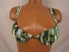 Sauvage Luxe Silky Tropical Underwire Push Up Bikini Top Size Small Item #172L