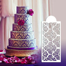 Plastic Lace Flower Border Fondant Cake Side Around Decor Spray Stencil Mould AU