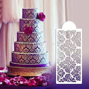 Plastic Lace Flower Border Fondant Cake Side Around Decor Spray Stencil Mould AU