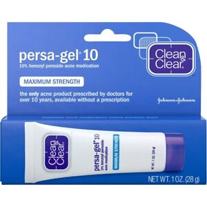 Clean & Clear Persa Gel 10 Acne Spot Treatment Medication 1 OZ/ 28 g Exp:2021/12