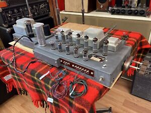 VINTAGE HAMMOND H-AO-33-2 TUBE AMPLIFIER WITH H-AO-31-1 REVERB AMP COMPLETE NICE