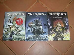 MORTEPIERRE  DU TOME 1 AU 3 LOT DE 3 BD