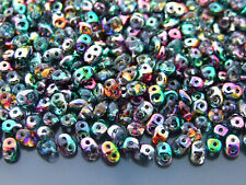 100g SuperDuo Beads Coated Marea Peacock Gold WHOLESALE