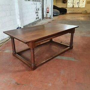 ANTIQUE/REPRODUCTION LARGE OAK REFECTORY DINNING/KITCHEN TABLE