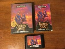 Phantasy Star II (Sega Genesis, 1989) COMPLETE Box manual game map! Fantasy 2