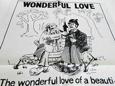 SOUVENIR VINTAGE PURE LINEN TEA TOWEL BY ULSTER 'WONDERFUL LOVE' BRAND NEW