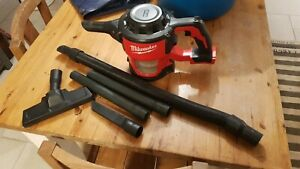 Milwaukee m18 Compact Hand vacuum M18CV and Accessories (bare unit)