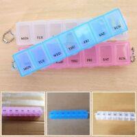 Tragbar 7 tägige Woche Pillendose Medizin nützlich Organize Lagerung xkj