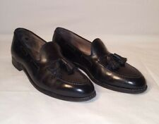 ALDEN 660 Tassel Loafers Black Leather Size 10.5 BD