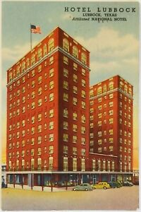 Affiliated National Hotel Lubbock Texas Postcard