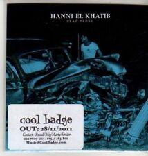 (CU211) Hanni El Khatib, Dead Wrong - 2011 DJ CD