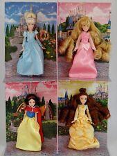 PRINCESS Mini Doll Set of 4 Cinderella Aurora Belle Snow White DISNEY PARK NIB