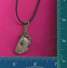 New pewter dragon claw with granite necklace 439