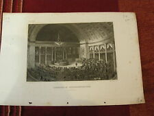 1850 USA WASHINGTON House of Representatives Chamber Beautiful Steel Engraving