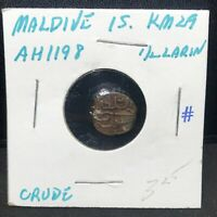 MALDIVES ISLAND - 1/2 LARIN - AH 1198 - Copper - Coin - KM #29- Scarce !